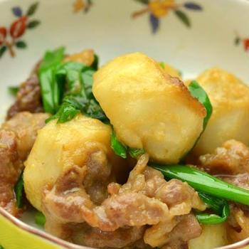 里芋と豚の味噌炒め