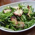 タコの水菜とわかめのサラダ♪わさび風味♪ by bvividさん