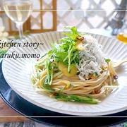 水菜とシラスのペペロンチーノ&人生で重要なものは?心理テスト♪