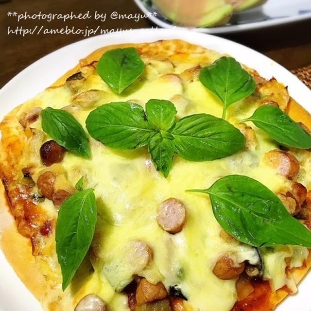 余ったラタトゥイユをのっけてピザに!