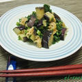 貧血予防に~大根の葉となすと油揚げ炒め・ごま油風味♪ by ei-recipeさん