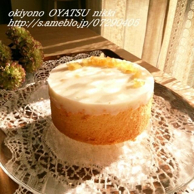 レモンヨーグルトのチーズケーキと晩ごはん。