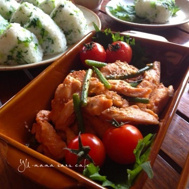 鶏むね肉の甘辛味噌漬け炒め *簡単柔らか鶏肉料理*