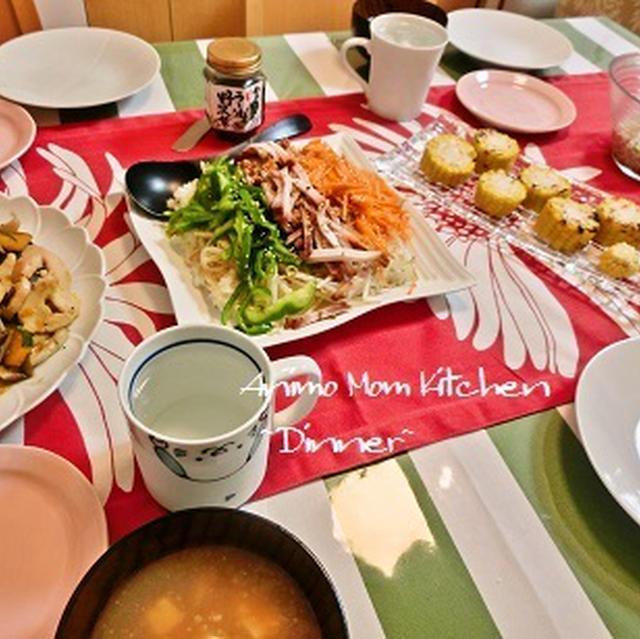 残った鶏ハムがおいしく変身♪茄子とかぼちゃと鶏ハムの炒めもの。