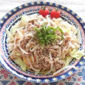 肉味噌豆腐サラダご飯