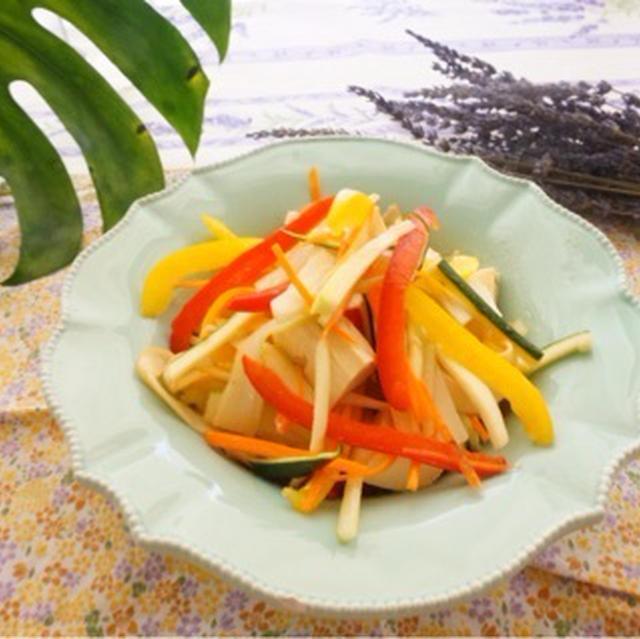 【レシピ】お豆腐入りイカの燻製サラダ