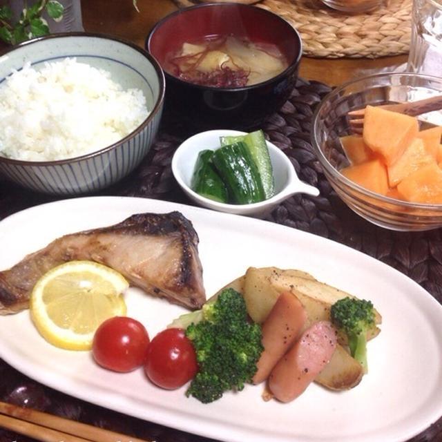 和食な朝ごはん♪厚揚げのねぎ生姜焼き♪…好きなもの♡