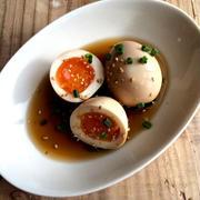 【簡単な副菜・おつまみを集めました】めんつゆで味付け卵*レンジでこんにゃくの煮物*柿のサラダなど
