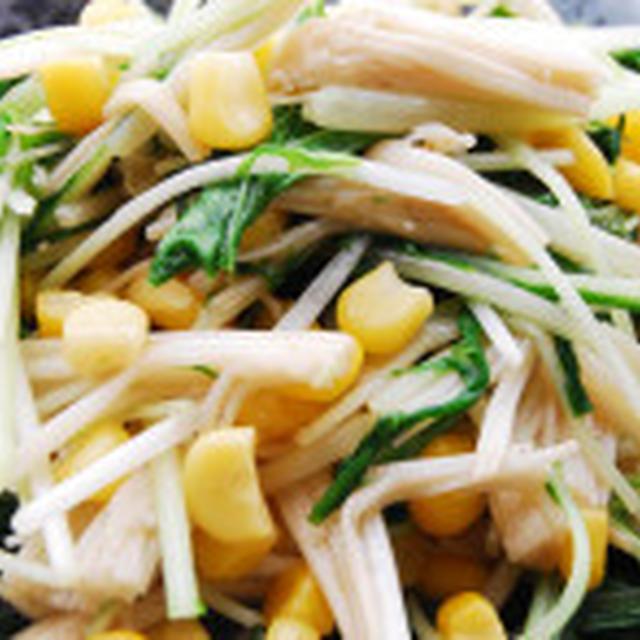 お弁当にもOK 水菜とエリンギのサッと炒め