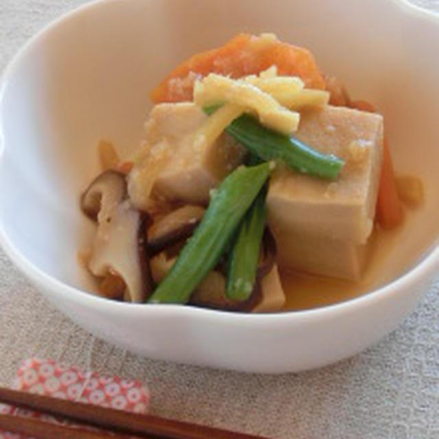 調味料は醤油麹だけ!!高野豆腐のショウガ醤油麹煮