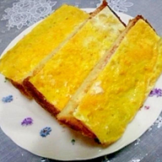 塩麹・薄焼きたまごトースト