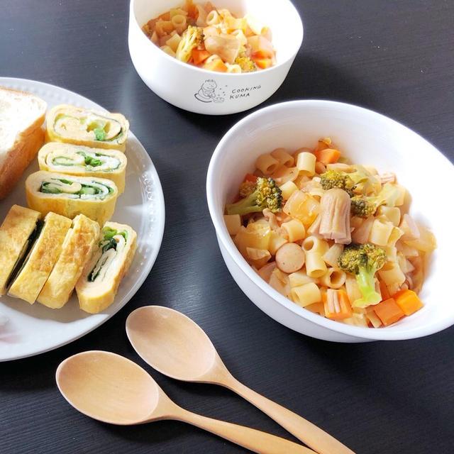 FRI 10/16/2020【幼児食・3歳】ショートパスタのトマト煮込み