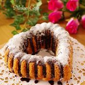 チョコレートとバニラの簡単ハートケーキ
