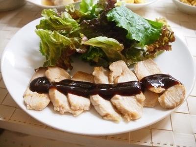 鶏胸肉ソテー つけて味噌かけて味噌