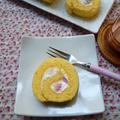 チーズクリーム入りロールケーキ♪