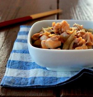 常備菜、鶏肉とごぼうの甘辛煮。