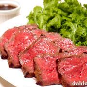 黒毛和牛肉のたたき ニンニクしょう油麹ソース添え