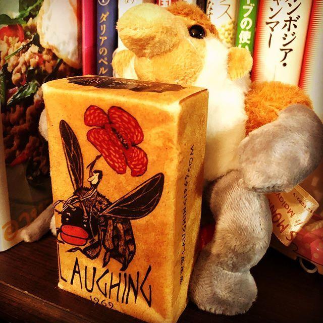 【Instagram】ボルネオで買った石鹸を使う決心がついたので記念撮影。テングザルとラフレシアのデザインが可愛いくて一目惚れ#ボルネオ#石鹸#テングザル#ラフレシア