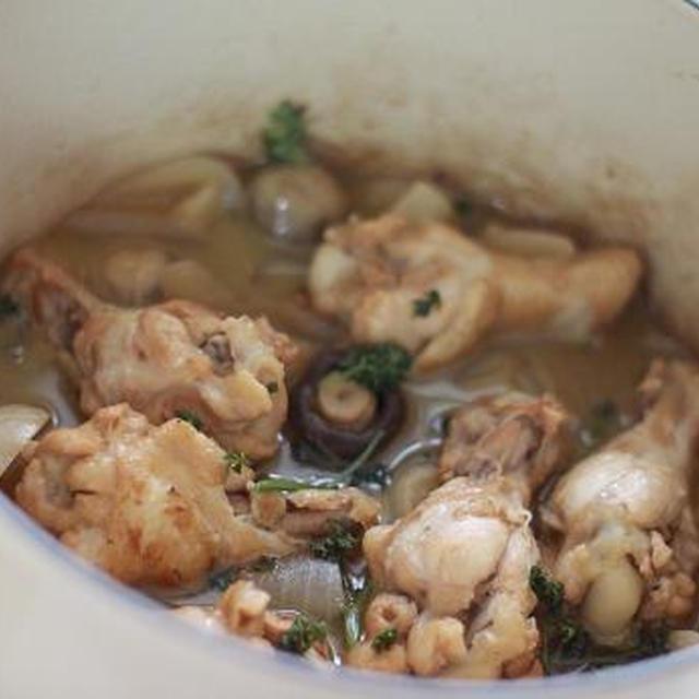 鶏肉とマッシュルームのシェリー酒煮込み☆