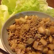 ホアジャオ香るミンチと根菜のレタス包み