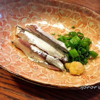 釣った小鰯で刺身と天ぷら