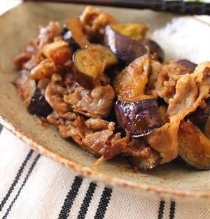 茄子と豚肉の生姜ポン酢醤油炒めおかか和え*連載記事の過去レシピ3