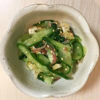 胡瓜と油揚げの酢物