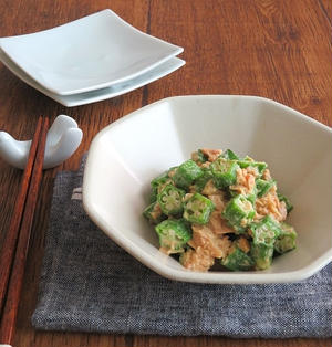 レンジで簡単☆お弁当の副菜に◎おくらのツナマヨ和風サラダ