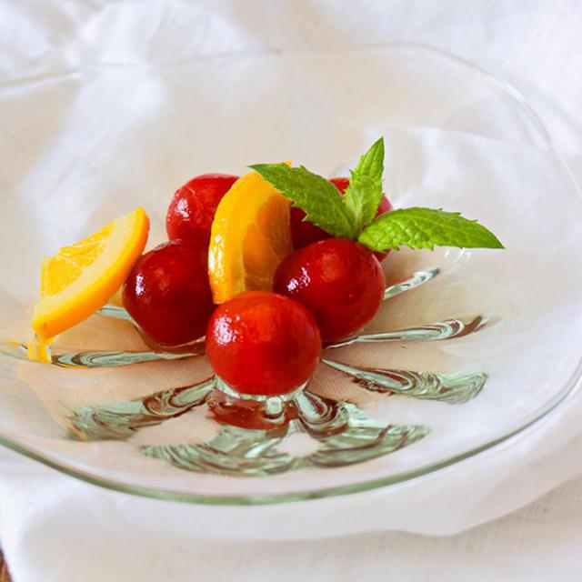 《レシピ》ミニトマトとオレンジのハニーコンポート。