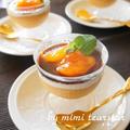 柿の美肌ムース☆かば君のチョコソース添え
