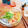 レモングラスで爽やかチキンのくずきり冷麺 by ふじたかなさん