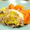 【和食】簡単!「春キャベツとひき肉のコンソメ醤油煮」&ごぼうの炊き込み御飯&生カブのサラダで晩ごはん。