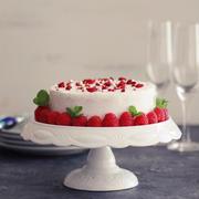 粉雪降り積もるホワイトクリスマスケーキ