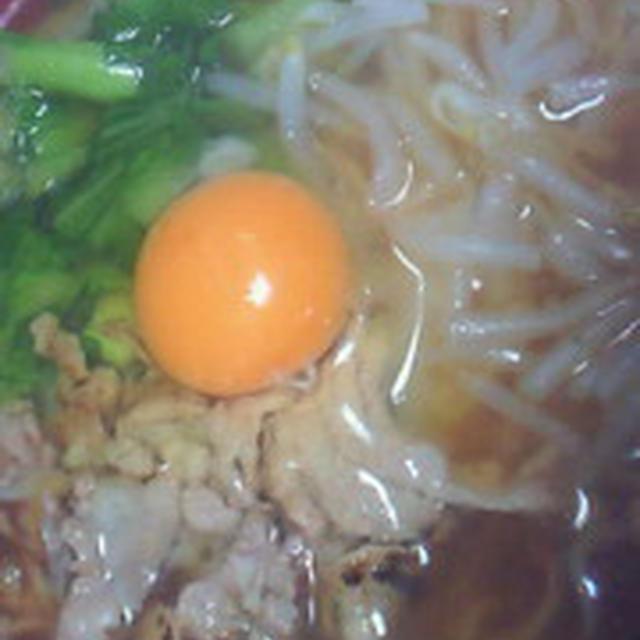 チンゲン菜の野菜炒めのラーメン