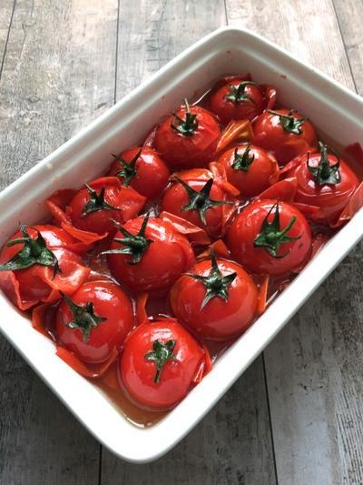 つめたく冷やして!素揚げトマトのだしマリネ