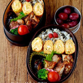 【今日のおべんと】鶏の竜田焼きのお弁当
