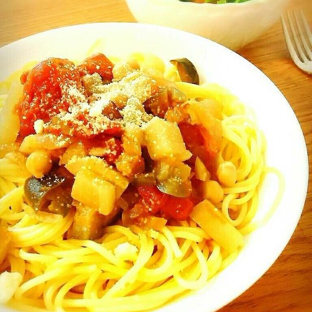 ひよこ豆と蕪のトマトスープ