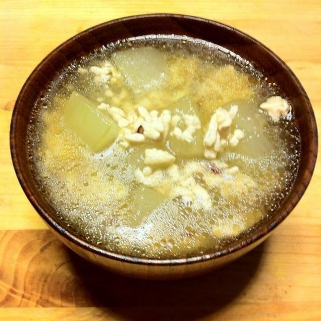 冬瓜の冷たいスープで夏バテ防止