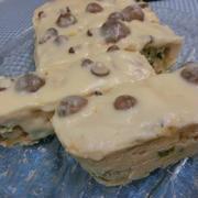 きのこチーズクリームをかけて☆ おからときのこのケ―クサレ