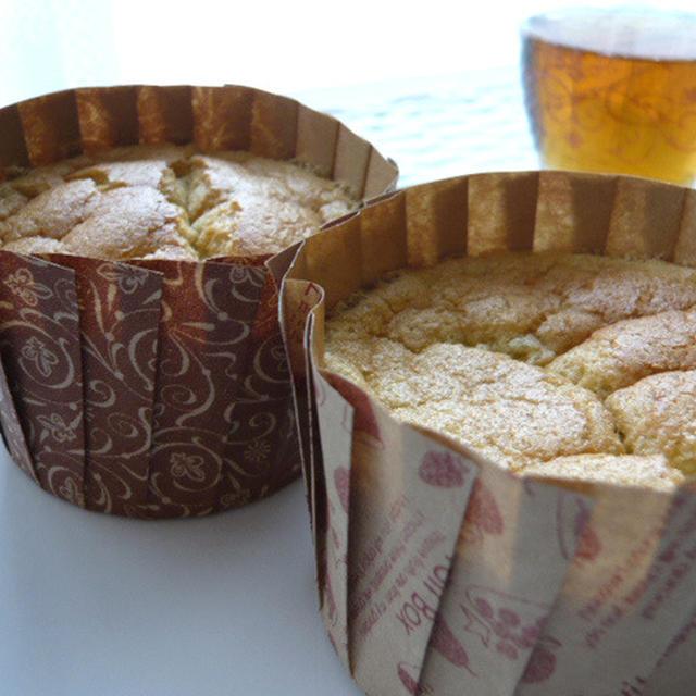 米粉で作る、カップdeバナナシフォン☆+゜