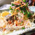 自家製鯖の水煮で新潟の「サバサラ」 by Misuzuさん
