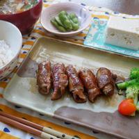 タカラ本みりんで作る茄子と豚肉の照り焼きロール