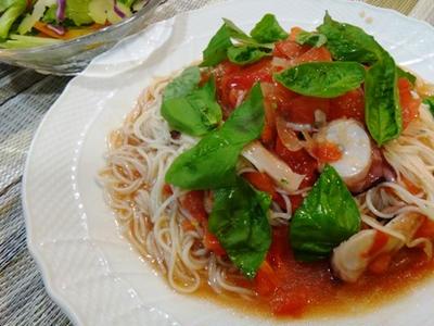 冷たいトマト素麺・レシピ