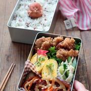 柚子胡椒風味♪大人かわいい唐揚げのお弁当
