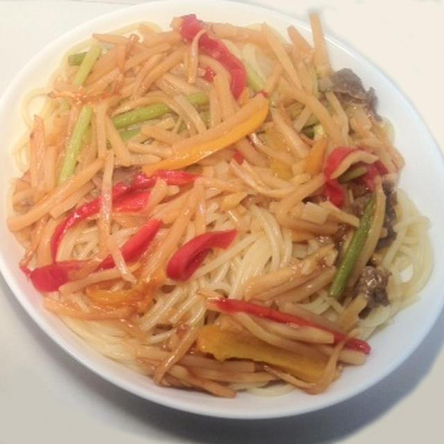ダイエットたっぷり野菜の牛肉パスタレシピ