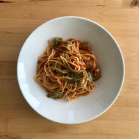 【レシピブログ】キャベツとサルシッチャのトマトソーススパゲティ × イタリアの白