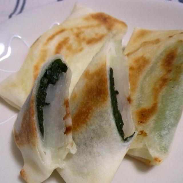 レシピ6:玉ねぎと小松菜の焼き春巻き