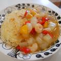 冬瓜とエビのあんかけ素麺