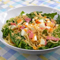 週末ランチは野菜を豪快に、お鍋ひとつで簡単!シーザーサラダ風スパゲティ。