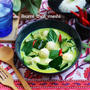 魚ボールのグリーンカレー★ドーサ作りの動画(南インドのカリカリクレープ)